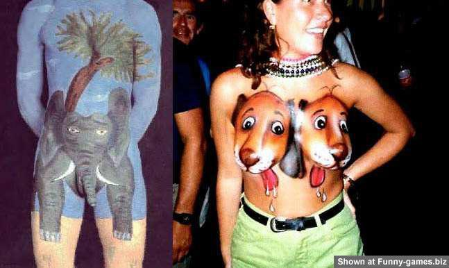 Funny Body paints