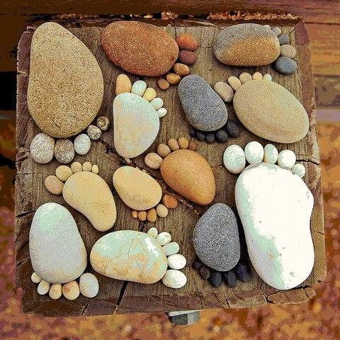 I want to make these into stepping stones for the garden