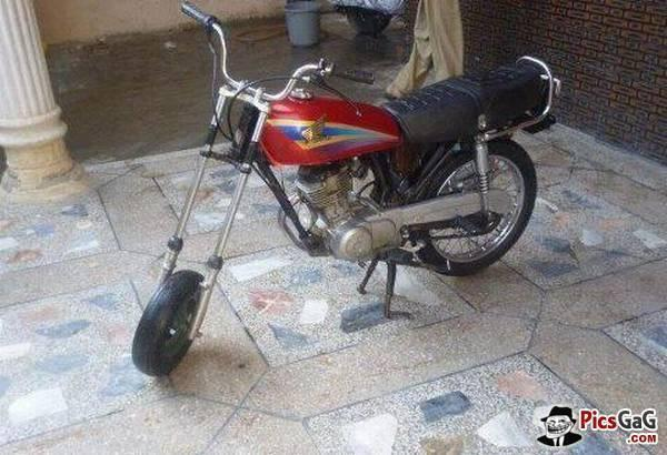Honda custom bike modification funny