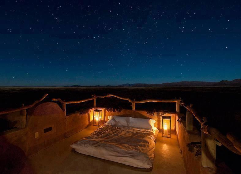 "Lovely ""skybed"" in the heart of the Namib Desert"