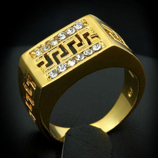 Unisex Vintage Gold Plated Ring