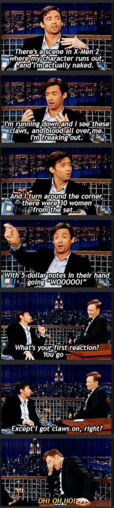 The always irresistible Hugh... X-Men 2