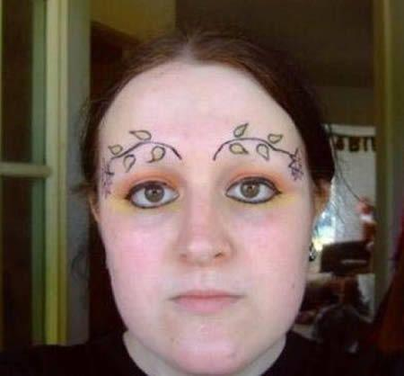 Good advice If you over-pluck your eyebrows, be sure to tattoo ivy spr