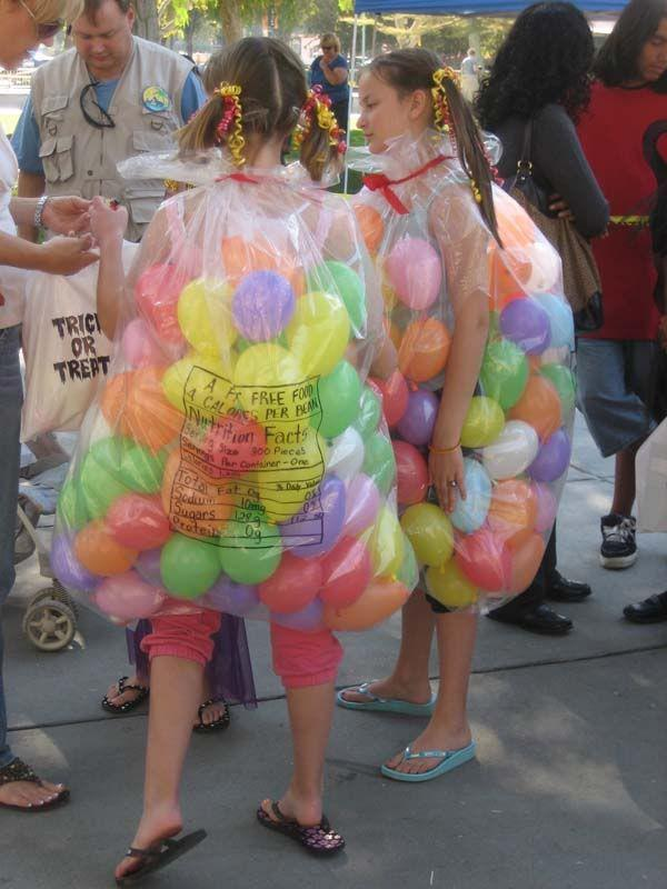 So many GREAT homemade Halloween costume ideas, like this one - a bag