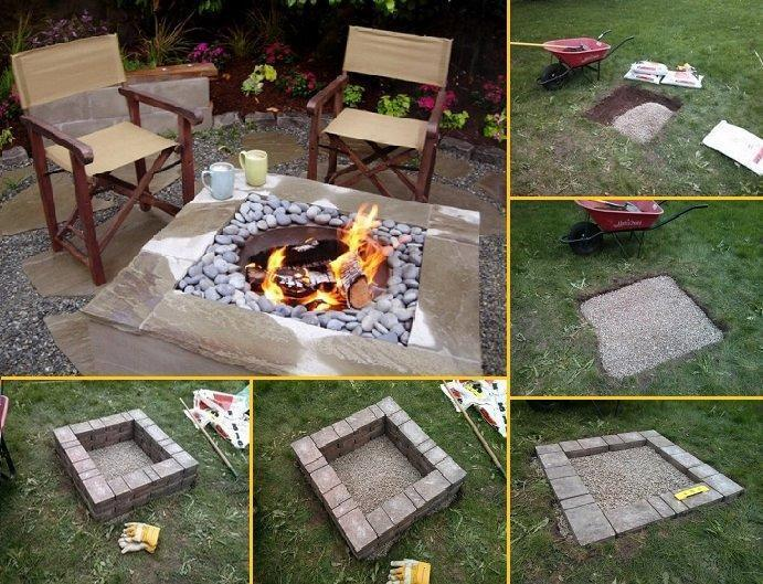 How to Build a Square Fire Pit