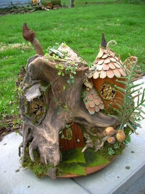 Mini Garden Design with Tree