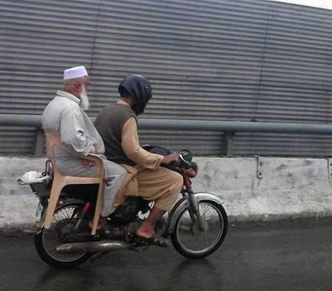 Safe Travel Bike Riding Pakistan Funny