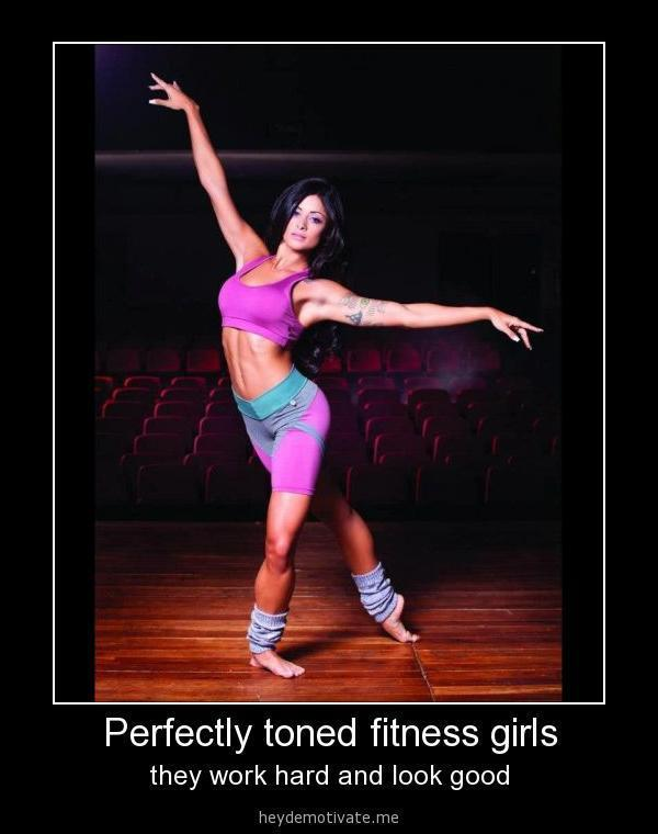Perfectly toned fitness girls