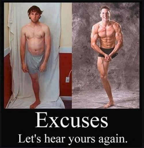 Excuses: Let's hear yours again.
