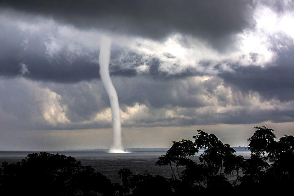 Waterspout on Lake Victoria, Uganda