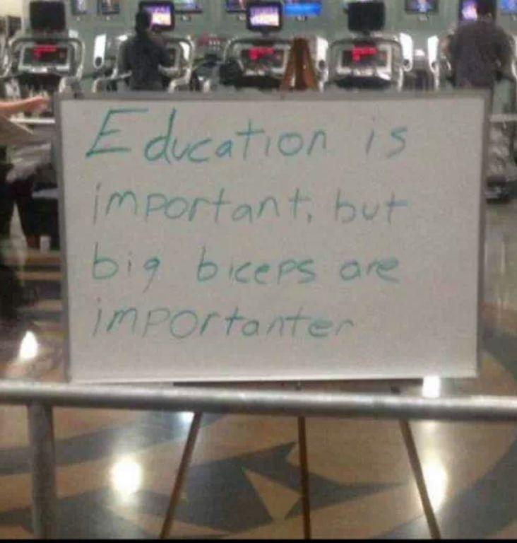 Eduaction is important but...