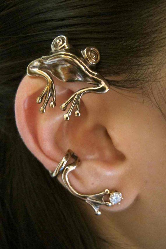Frog Ear Wrap - Frog Ear Cuff - Bronze Curious Frog Ear Wrap - Frog Je