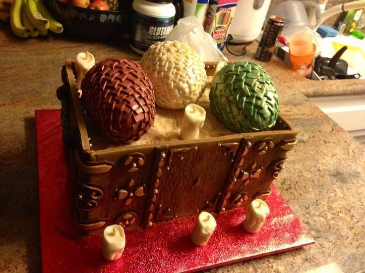 Game of Thrones dragon eggs birthday cake - the only cake fitting a kh