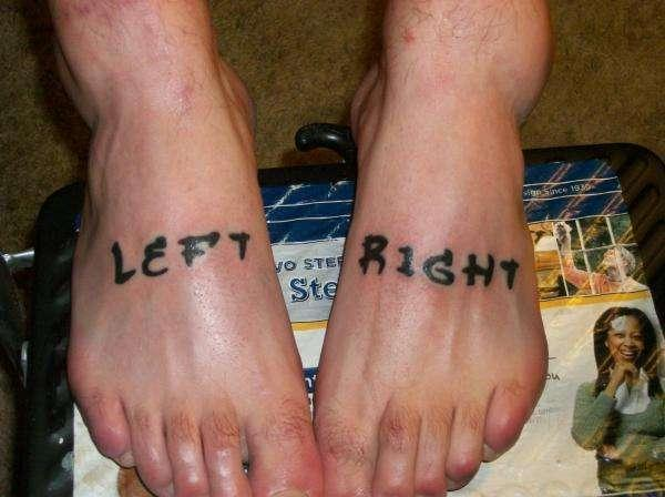 Left and right Foot Tattoos
