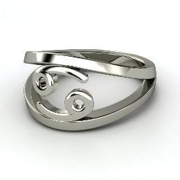 Cancer Zodiac Ring, Sterling Silver Ring from Gemvara