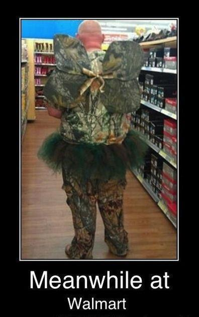 It's just your every day camo fairy at your local Walmart.