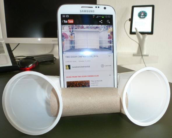 Cheap and easy phone speakers