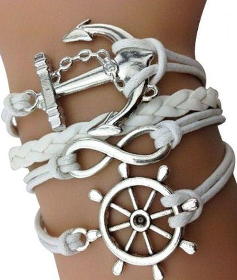Nautical Anchor Arm Bracelet Set ♥