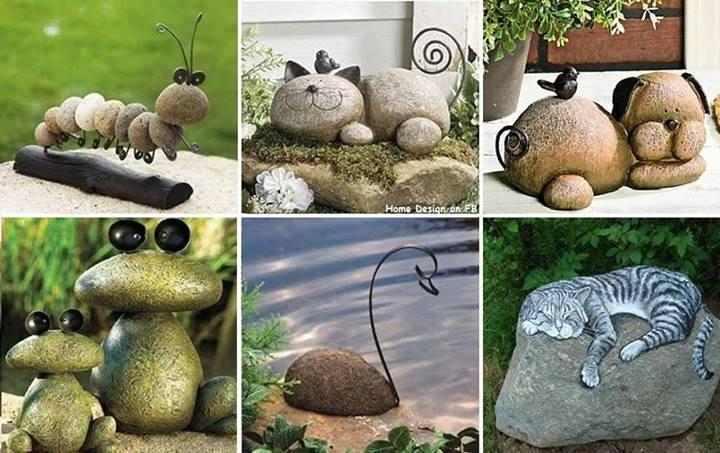 Design of stones for the garden