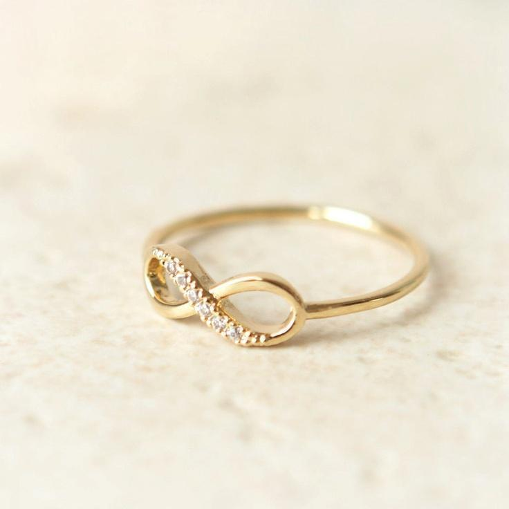 Black Friday Etsy, Cyber Monday Etsy-Infinity Ring in gold