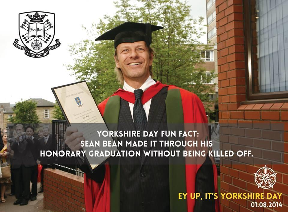 Saw this posted by the University of Sheffield (Sean Bean's hometown)