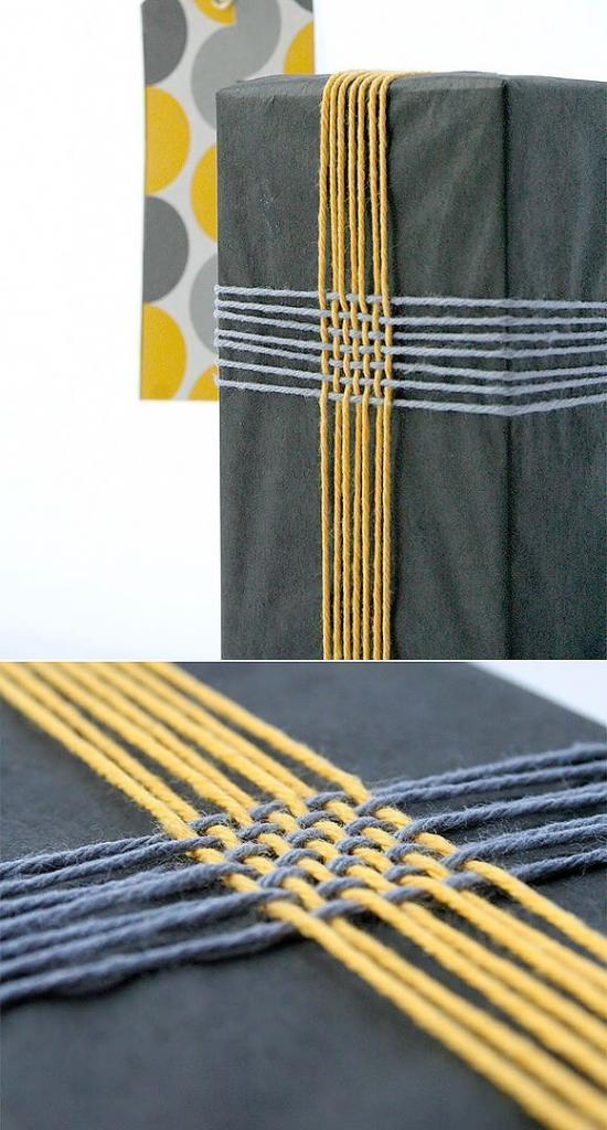 DIY Gift Wrap Ideas Braided Twine