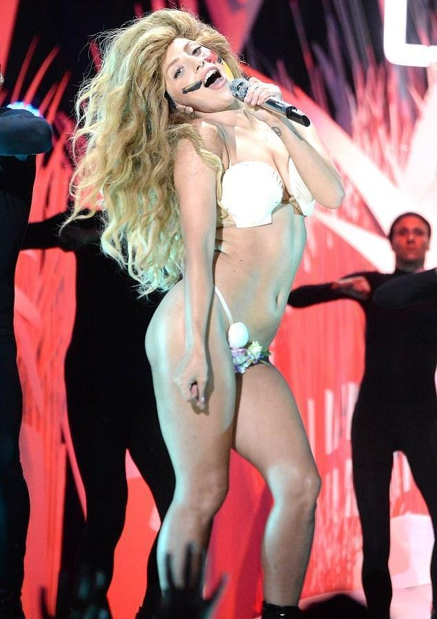Lady Gaga in seashells and string bikini MTV VMA