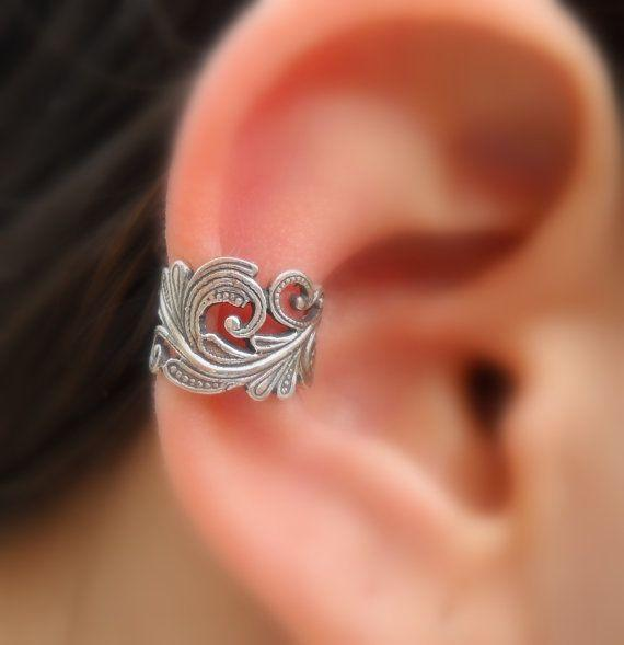 Sterling Silver Handcrafted Textured Ear Cuff Cartilage