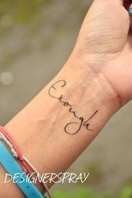 wrist tattoo - I've never really wanted a tattoo, but I love this one