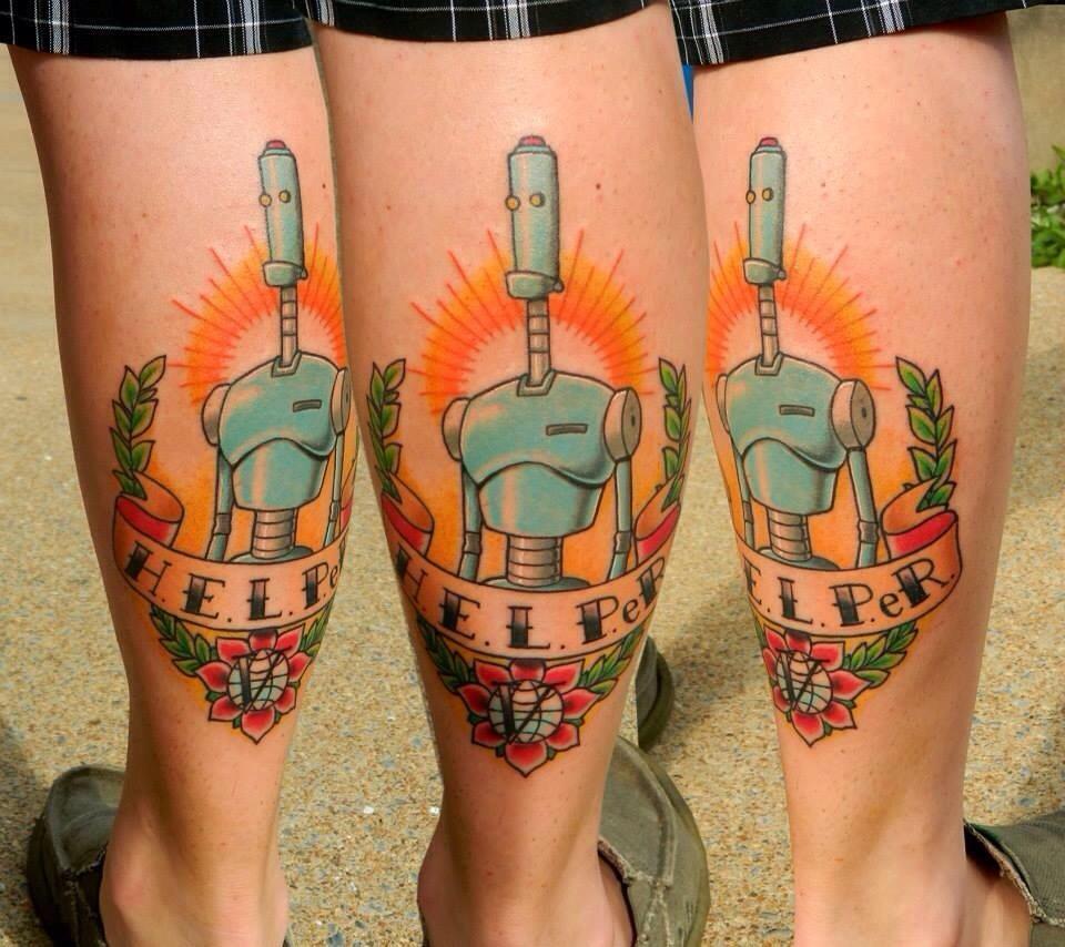 Finally got my H.E.L.P.eR. piece! By Jay Ripley at Steel Heart Tattoo,