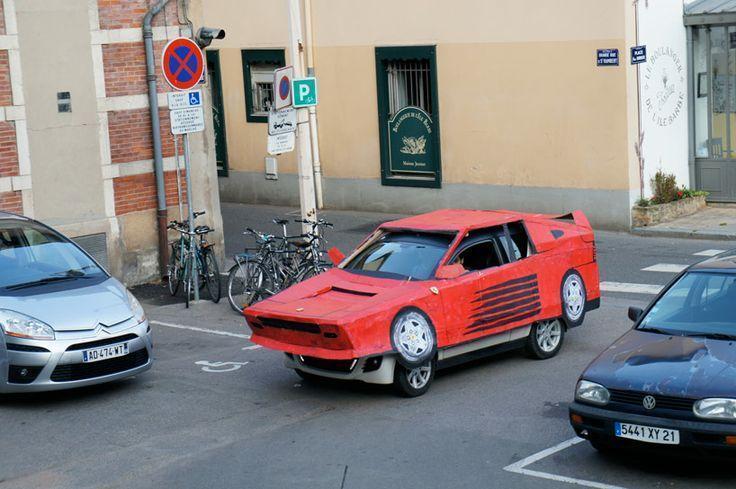 cardboard Ferrari