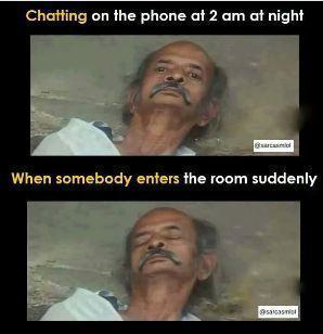 chatting at night funny