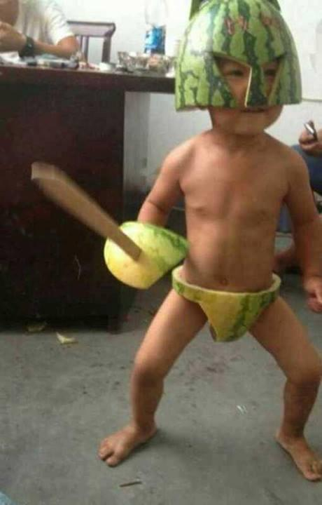 Watermelon warrior... LOL