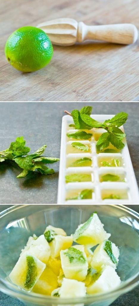 Mint & Lime Juice Cubes. Water will never be the same!