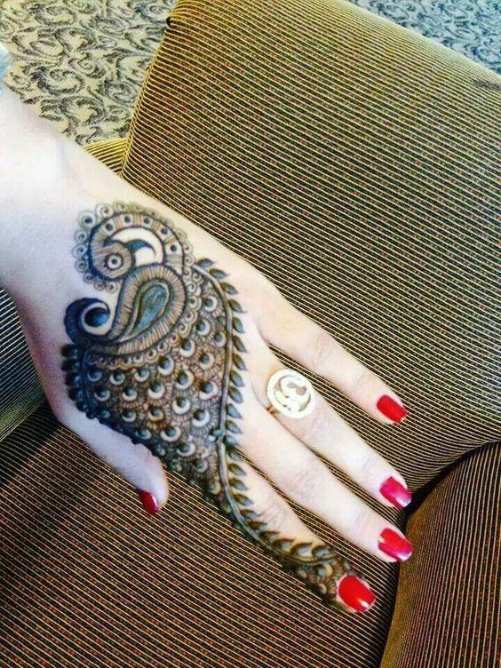 peacock mehendi henna design