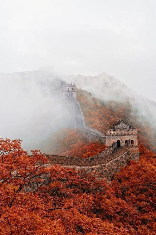 Fog Over Great Wall of China