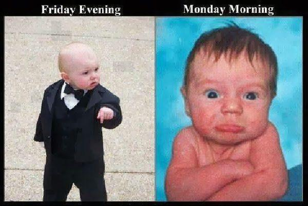 Baby Funny, Friday and Monday