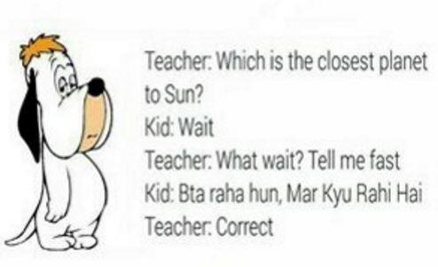 Teacher asking to Kid