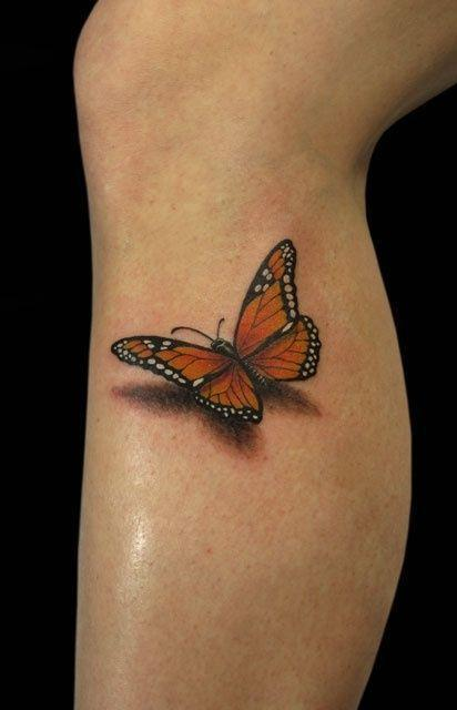 I should have this done to existing tats ♥ 3D Butterfly Tattoo Serio
