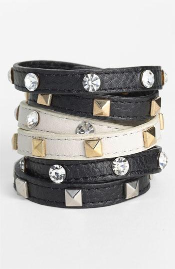 Cara Accessories Leather Wrap Bracelet