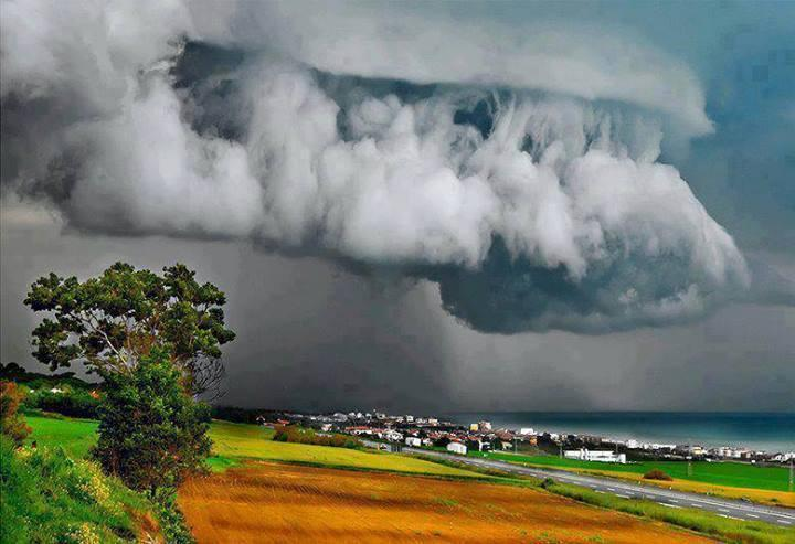Supercell Thunderstorm Over Ancona, Italy.