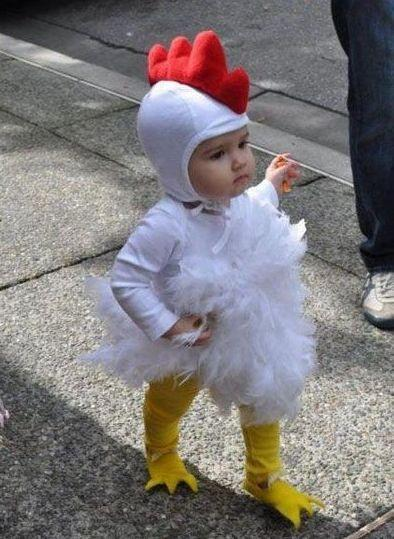 Baby In a Chick Costume I LOOK FABULOUS