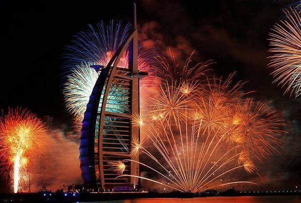 Dubai New Year Lightining Photos