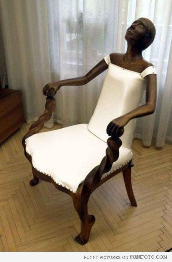 Lap sculpture chair