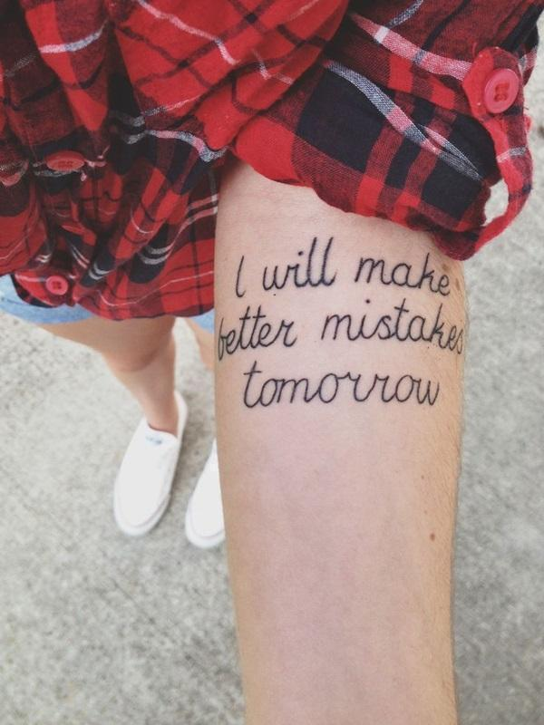 i will make better mistake tommoto tatoos