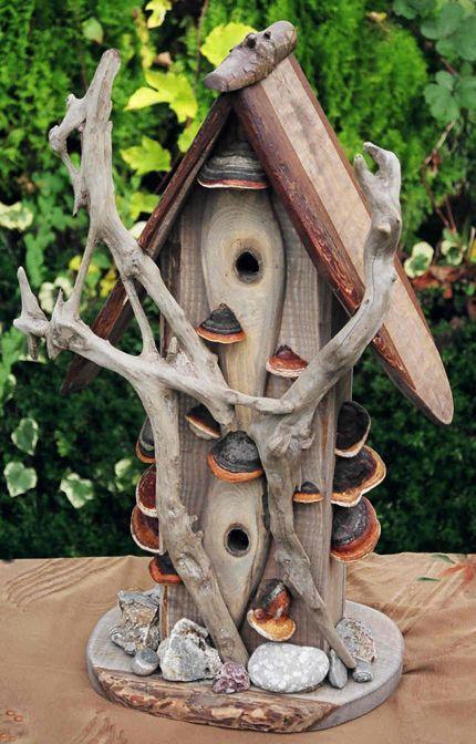 driftwood bird house