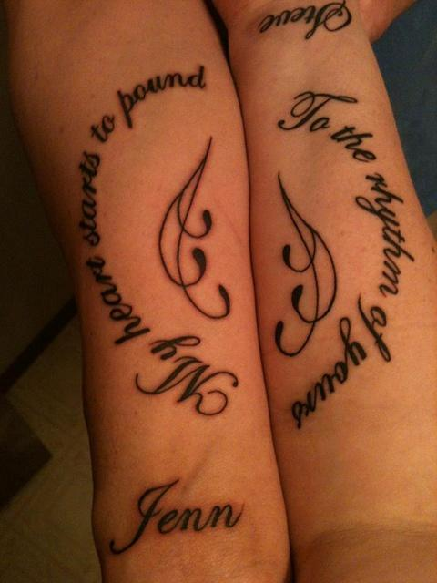 ♥ couples tattoo