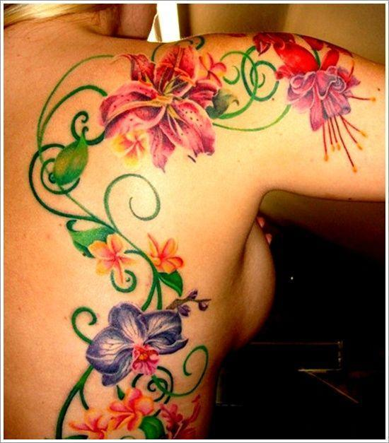 Orchid Tattoo Ideas For Women