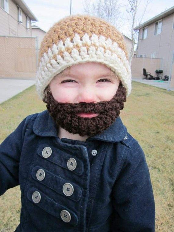 Kids ULTIMATE Bearded Beanie Warm Brown