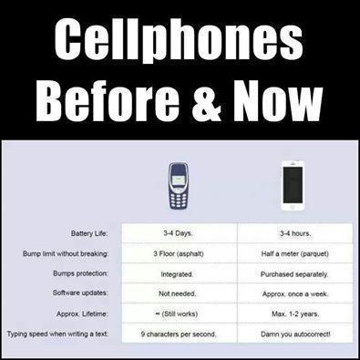 CELl PHOnes PAst vs Present